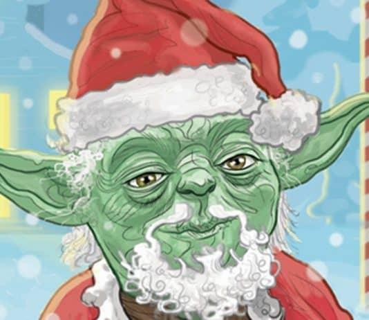 Yoda Christmas Card