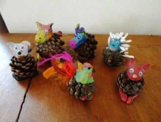 pine-cone-animals