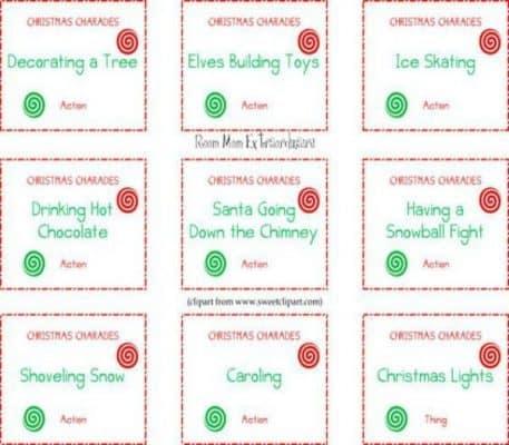 Christmas Charades Christmas Cards