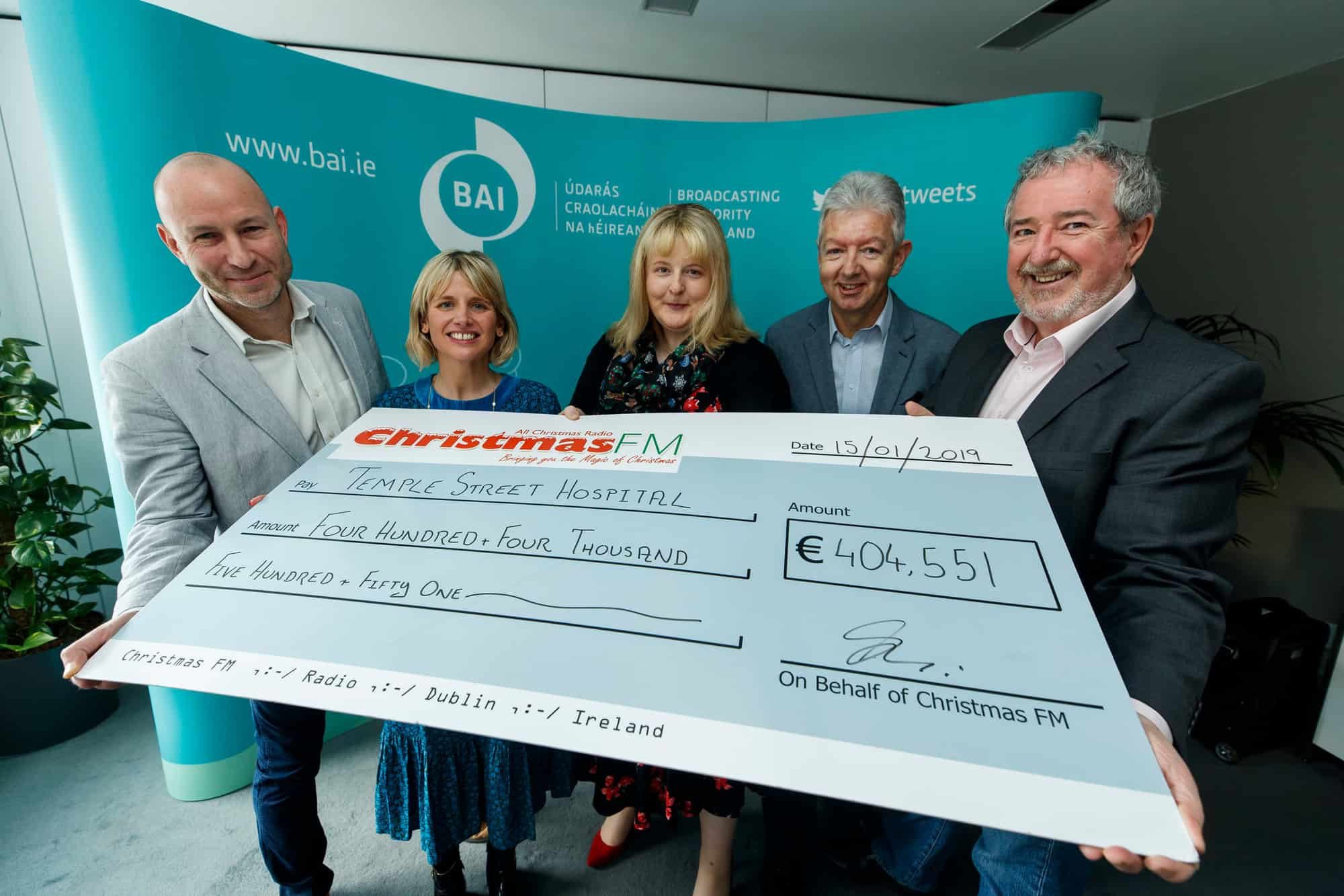 Christmas FM raises over €400,000 for Temple Street Children's University Hospital