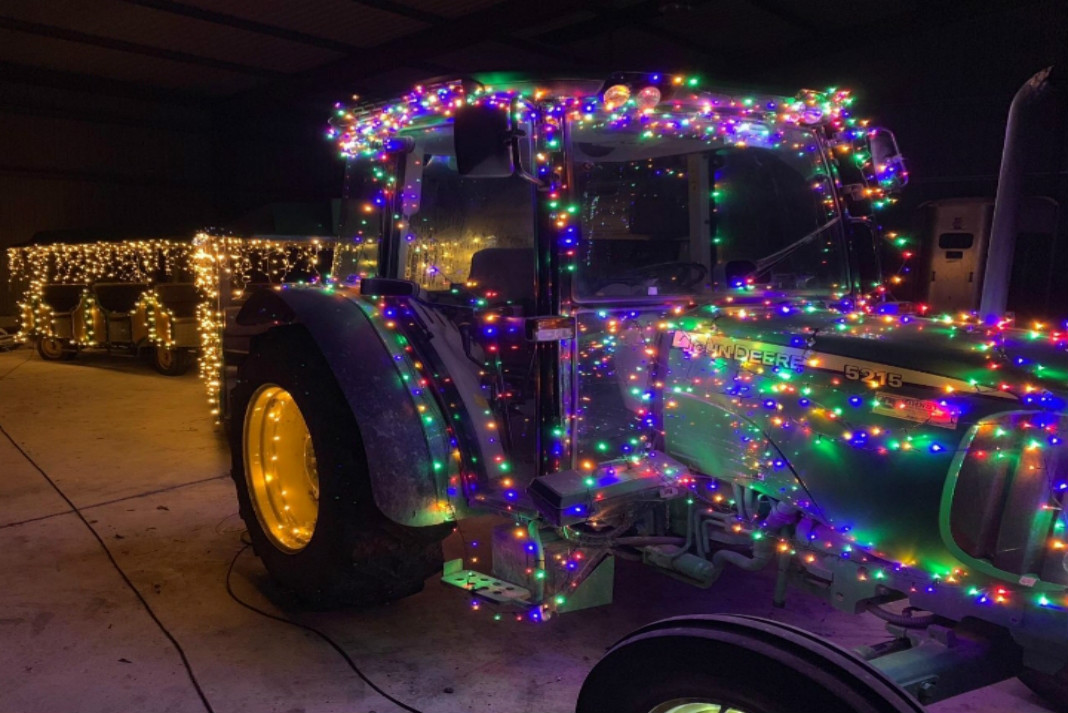 Christmas Lights Tractor Run