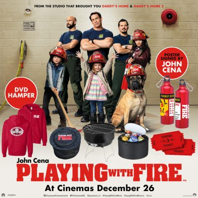 Win a mega 'Playing With Fire' movie prize